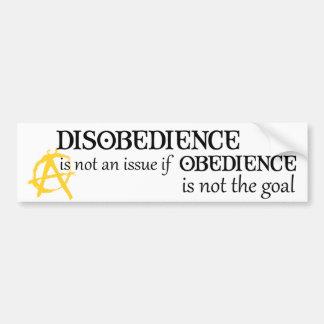 Adesivo Para Carro A obediência não é o objetivo