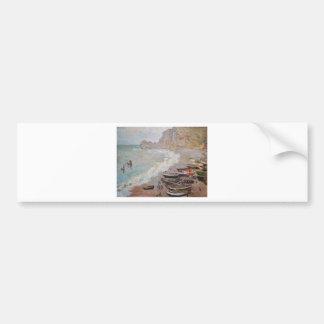 Adesivo Para Carro A praia em Etretat - Claude Monet