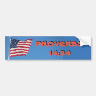Adesivo Para Carro A rectidão do 14:34 dos provérbio da bandeira dos