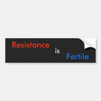 Adesivo Para Carro A resistência é fértil