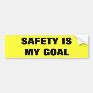 Adesivo Para Carro A segurança é meu caminhão do negócio do objetivo