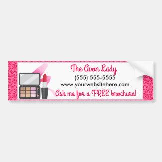 Adesivo Para Carro A senhora de Avon, cosméticos cor-de-rosa do