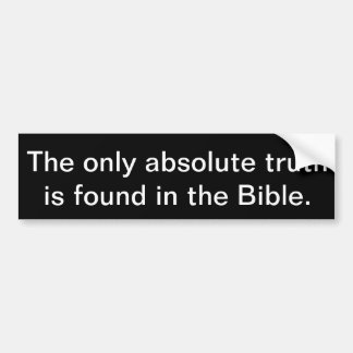 Adesivo Para Carro A única verdade absoluta é encontrada na Bíblia