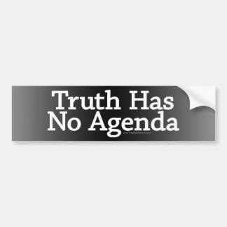 Adesivo Para Carro A verdade não tem nenhuma agenda