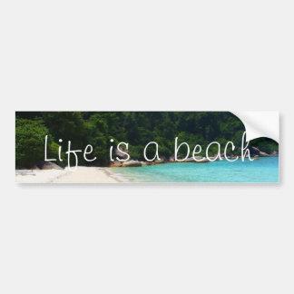 Adesivo Para Carro A vida é uma praia