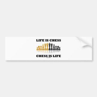 Adesivo Para Carro A vida é xadrez da xadrez é vida (o grupo de