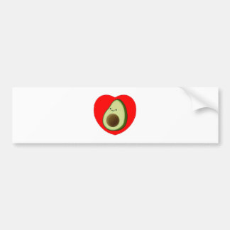 Adesivo Para Carro Abacate bonito no coração vermelho