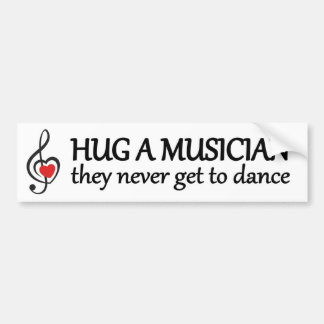 Adesivo Para Carro abrace um músico que nunca conseguem dançar a
