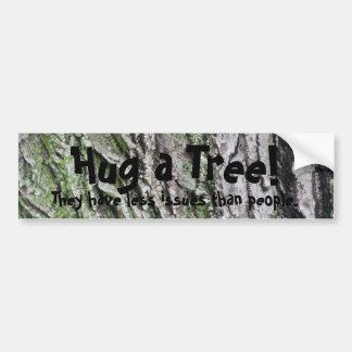 Adesivo Para Carro Abrace uma árvore