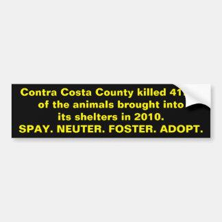 Adesivo Para Carro Abrigos animais de Contra Costa County