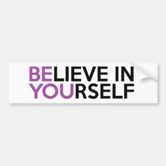 Adesivo Para Carro Acredite em o senhor mesmo - seja você