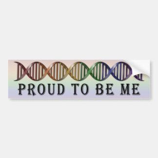 Adesivo Para Carro ADN do arco-íris do orgulho de LGBT