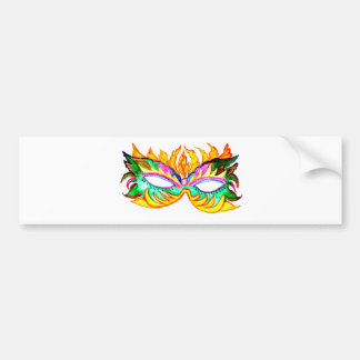 Adesivo Para Carro Aguarela da máscara do carnaval