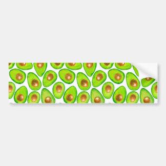 Adesivo Para Carro Aguarela das fatias de abacate