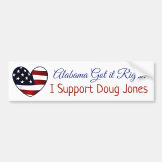 Adesivo Para Carro Alabama obteve-lhe o direito, mim apoia Doug Jones