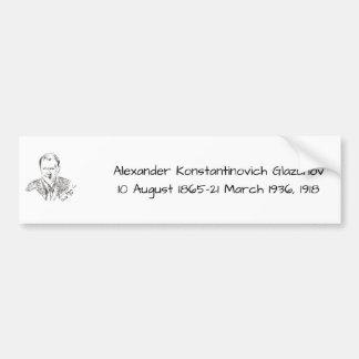 Adesivo Para Carro Alexander Konstamtinovich Glazunov 1918