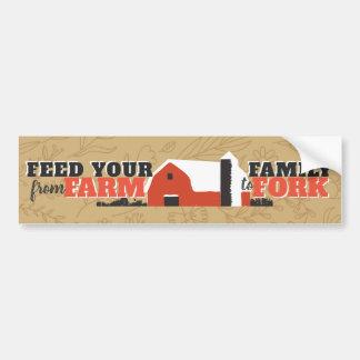 Adesivo Para Carro Alimente sua família da fazenda ao autocolante no