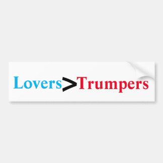 Adesivo Para Carro Amantes > Trumpers