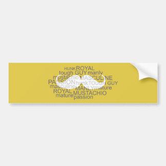 Adesivo Para Carro Amarelo da arte da tipografia do autocolante no