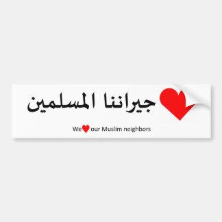 Adesivo Para Carro Ame nosso vizinho muçulmano