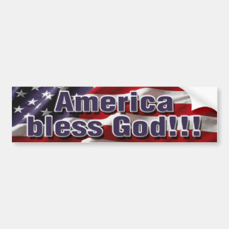 Adesivo Para Carro América abençoa o deus Bumpersticker