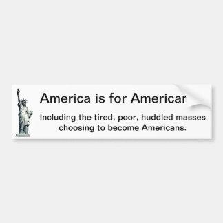 Adesivo Para Carro América é para americanos - estátua da liberdade
