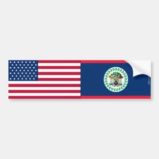 Adesivo Para Carro Americano & Belizence embandeira o autocolante no