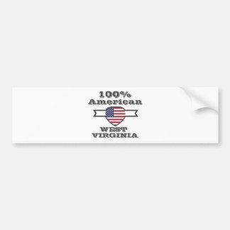 Adesivo Para Carro Americano de 100%, West Virginia