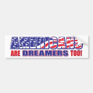 Adesivo Para Carro Americano-estar-Sonhadores-demasiado
