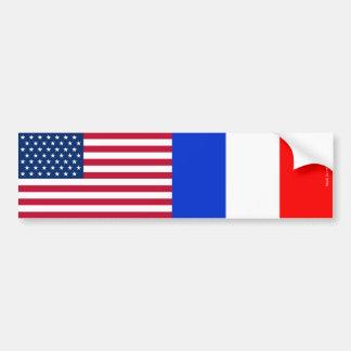 Adesivo Para Carro Americano & francês embandeira o autocolante no