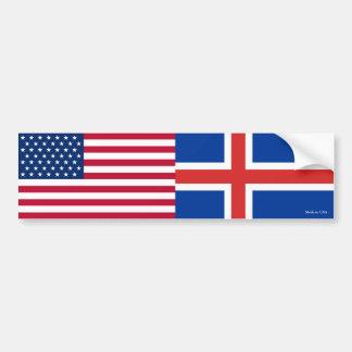 Adesivo Para Carro Americano & islandês embandeira o autocolante no