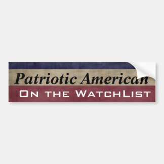Adesivo Para Carro Americano patriótico no WatchList customizável