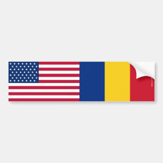 Adesivo Para Carro Americano & Romanian embandeira o autocolante no