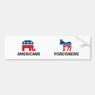 Adesivo Para Carro Americanos contra estrangeiros