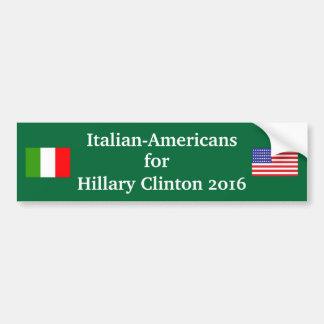 Adesivo Para Carro Americanos italianos para Hillary Clinton 2016