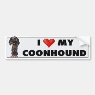 Adesivo Para Carro Amor BTC do Coonhound (preto e Tan)
