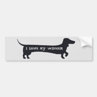Adesivo Para Carro AMOR engraçado de I MEU bumpersticker do dachshund
