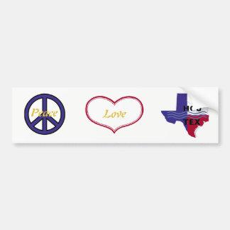 Adesivo Para Carro Amor Houston da paz