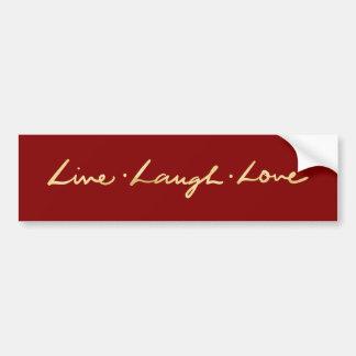 Adesivo Para Carro Amor vivo do riso da pia batismal da folha de ouro