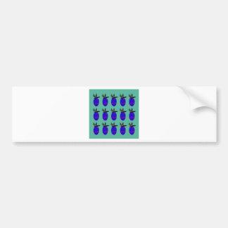 Adesivo Para Carro Ananases do design azuis
