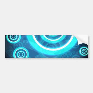 Adesivo Para Carro Anéis cósmicos de incandescência do azul