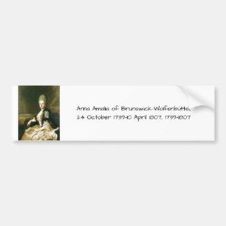 Adesivo Para Carro Anna Amalia de Brunsvique-Wolfenbuttel 1739-1807