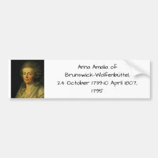 Adesivo Para Carro Anna Amalia de Brunsvique-Wolfenbuttel 1795