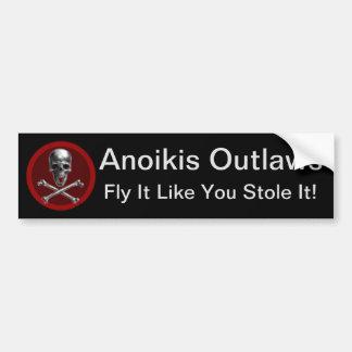 Adesivo Para Carro Anoikis Outlaws o autocolante no vidro traseiro