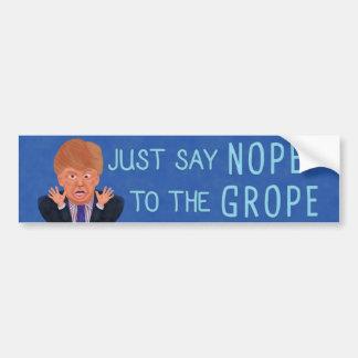 Adesivo Para Carro Anti eleição 2016 de Donald Trump Nope ao Grope