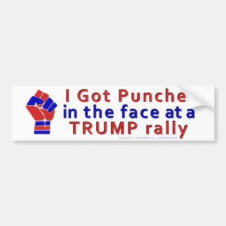 Adesivo Para Carro Anti engraçado de Donald Trump perfurado na cara
