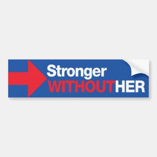 Adesivo Para Carro Anti Hillary Clinton mais forte sem seu trunfo