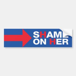 Adesivo Para Carro Anti vergonha de Hillary Clinton nela - trunfo