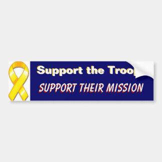 Adesivo Para Carro Apoie as tropas apoiam suas forças armadas da