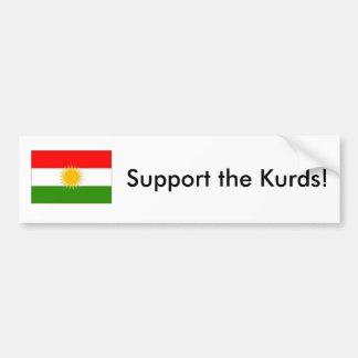 Adesivo Para Carro Apoie o autocolante no vidro traseiro dos Curdos